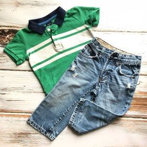 Gap Polo Shirt And Jeans Set 2T